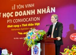Thông điệp từ Chuyên gia Nguyễn Tất Thịnh tại Lễ Tôn vinh sự học Doanh nhân Hà Nội